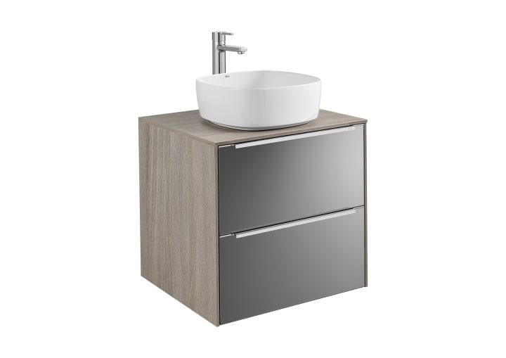 Modernistyczne Szafka z blatem pod umywalkę nablatową | Zestawy łazienkowe RZ78