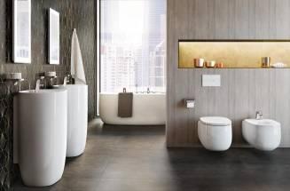 Szara łazienka Beyond, Aranżacja Roca - szara łazienka,